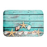 40x60cm Beach Shellfish Kitchen Beadroom Bathroom Non Slip Carpet Floor Mat