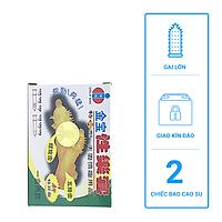 Bao cao su Hong Kong Gold gai - bao cao su  gân gai siêu lớn xung quanh bao - (2 chiếc)