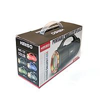 Loa bluetooth KIMISO KMS-122 hỗ trợ nghe USB, thẻ nhớ, đài FM, cổng AUX, 2 loa bass mạnh, có đèn led (màu ngẫu nhiên) HÀNG NHẬP KHẨU