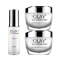 Bộ 3 sản phẩm dưỡng trắng da và mờ đốm nâu Olay White Radiance Light Perfecting