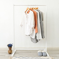 Giá Treo Quần Áo Gỗ Thanh Đơn Single Hanger Size L Nội Thất Kiểu Hàn BEYOURs