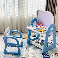 Bàn ghế đa chức năng 2in1, có thể làm bàn, bảng vẽ cho bé từ 1 - 8 tuổi Holla, mặt chống lóa mỏi mắt an toàn cho bé