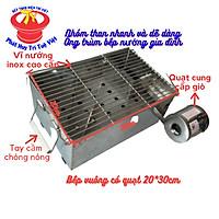 Bếp nướng than không khói chữ nhật 20 x 30cm có quạt gió nướng gia đình kèm 1kg than không khói