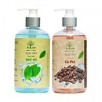 Bộ AmeGreen: Sữa Tắm Tinh Dầu Bạc Hà (600ml) & Sữa Tắm Tinh Dầu Cà Phê (600ml)