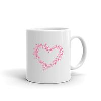 Cốc Sứ Cao Cấp In Hình Trái Tim Yêu Hồng Thắm Valentines Tình Yêu - Mã007
