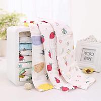 Set 5 khăn mặt organic 6 lớp siêu mềm