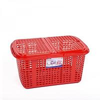 GIỎ NHỰA (CÓ NẮP) basket has lid