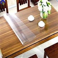 Miếng kính trải bàn nhựa PVC trong suốt loại mềm dẻo và dày, chống thấm - khổ 1,2m