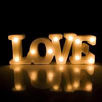 Đèn led chữ Love liền 3D độc đáo trang trí sinh nhật, tiệc cưới, lễ tình nhân lãng mạn  (tặng kèm pin tiểu AA)