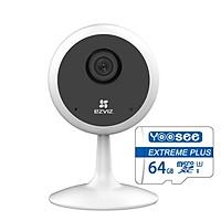 Trọn bộ Camera Ip Wifi Ezviz Cube C1C Full HD 1080P và Thẻ Nhớ Yoosee 64GB - Hàng Chính Hãng