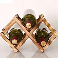 Kệ đựng rượu sang trọng bằng gỗ tự nhiên