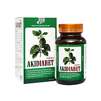 Combo 2 hộp Viên tiểu đường Akidiabet - Giảm đường huyết, ngăn ngừa biến chứng tiểu đường, giảm mỡ máu. Lọ 60 viên. SP đạt chuẩn GMP -   WHO, được Sở Y Tế cấp phép.