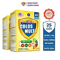 Combo 2 hộp Sữa bột Colosmulti A1 hỗ trợ tăng cường sức đề kháng cho trẻ hộp 25 gói x 14g