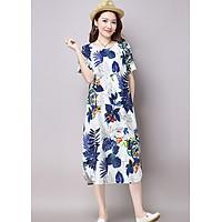 Đầm suông trung niên hoa lá Haint Boutique da149