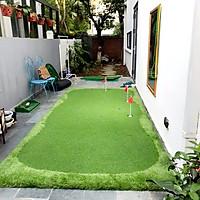 Bộ Thảm tập Putting Golf [1,5m x 3,5m], Dày 3cm:  Kèm 3 hố cờ inox, Cao cấp, Bền bỉ, Đàn hồi tốt.