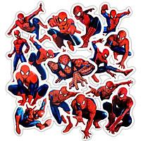 Sticker Spider Man Set 60 ảnh người Nhện. Marvel (Giao mẫu ngẫu nhiên)