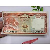 Tiền 20 Rupees Nepal hình núi Himalaya - tặng phơi nylon bảo quản tiền