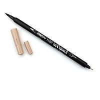 Bút lông hai đầu màu nước Marvy LePlume II 1122 - Brush/ Extra fine tip - Tan (91)