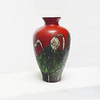 Bình hút tài lộc - Lộc bình, bình hoa gốm sơn mài Bát Tràng - Độc, lạ Gốm sứ Bát Tràng Olympia