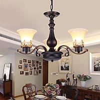 Đèn chùm  - đèn trần trang trí nội thất 3 tay cổ điển PHONG CÁCH CỔ ĐIỂN BẮC ÂU