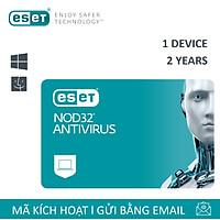 Phần mềm diệt Virus Eset Nod32 Antivirus 1 User 2 Years - Bản quyền 1 Máy/2 Năm - Hàng Chính Hãng