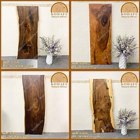 Mặt gỗ me tây nguyên tấm, phù hợp làm bàn ăn, bàn làm việc,...cho mọi không gian