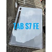 Ốp silicon cho Samsung Galaxy Tab S7 FE 12.4 inch - Silicon dẻo nhám chống bám vân tay