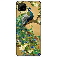 Ốp lưng dành cho Realme C15 mẫu Chim Công Hoa Xanh