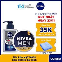 Combo Nivea MEN chăm sóc da cho nam, giúp sáng da & dưỡng ẩm (83923 + 83956)