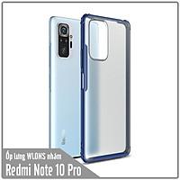 Ốp lưng chống sốc cho Xiaomi Redmi Note 10 Pro nhám viền màu