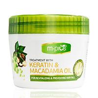 Kem Hấp Hồi Sinh Keratin & Macadamia Oil Ngừa Rụng Tóc M.PROS 300ml