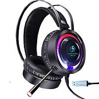 Tai nghe Lightning V6S 7.1 - Cổng USB ( Màu Đen) - Hàng Chính Hãng