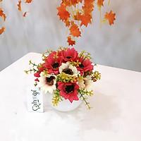 Chậu Hoa Giả Hoa Cúc Retro
