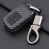 Ốp chìa khóa carbon bọc, bảo vệ chìa khóa xe Honda CR-V, Civic, City…kèm móc đeo INOX