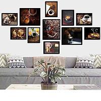 Bộ khung ảnh treo tường composite cà phê kèm đinh 3 chân  KA241