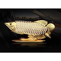 Cá rồng mạ mầu vàng dùng trang trí phòng khách, trang trí trên xe hơi, tạo may mắn, và sang trọng