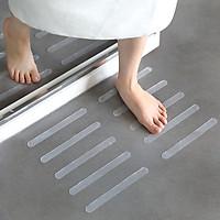 5Pcs Transparent Anti Slip Skid Strip Bathtub Staircase Stickers Tape 20x2cm