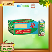 [Chỉ giao HN] [Phiên bản Scan mã đổi quà] Thùng 24 hộp sữa lúa mạch Nestlé Milo Teen bữa sáng (24x200ml)