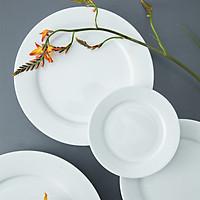 Đĩa sứ trắng tròn đủ cỡ Long Phương