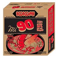 Thùng 30 Gói Mì Kokomi Đại 90 Tôm Chua Cay (30 Gói X 90g)