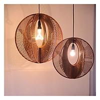 Đèn gỗ thả trần CAO CẤP hiện đại sang trọng 55x55cm chất liệu gỗ trang trí cho phòng khách nhà căn hộ decor nhà quán cafe