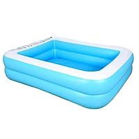 "Large 50"" x 35"" Family Inflatable Swimming Pool Backyard for Kids Swim Bathtub"