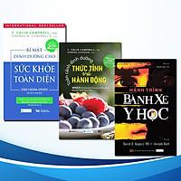 Sách - Combo 3 cuốn Bí mật dinh dưỡng cho sức khỏe toàn diện, Toàn cảnh dinh dưỡng thức tỉnh và hành động, Hành trình bánh xe y học