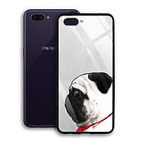 Ốp Lưng Kính Cường Lực cho điện thoại Oppo A3s - 03028 7847 PUG11  - Cúc Họa Mi - Hàng Chính Hãng