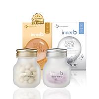 Bộ đôi thực phẩm bảo vệ sức khỏe InnerB Aqua Rich Doubleup (56 viên) & InnerB Snow White (28 G*20EA/CT)