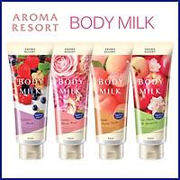 Sữa dưỡng thể hương đào Aroma Resort Kracie body milk 200g