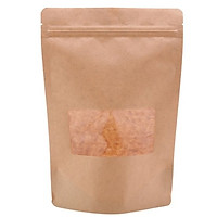 Túi giấy Kraft nâu zipper cửa sổ nhỏ 15x22 cm (1kg)