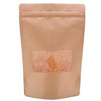 Túi giấy Kraft nâu zipper cửa sổ nhỏ 22x30 cm (1kg)