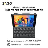 Ốp lưng kèm bàn phím ZAGG Keyboard Pro Keys-Apple-iPad 10.2-Black/Gray-UK - 103407134 - Hàng chính hãng