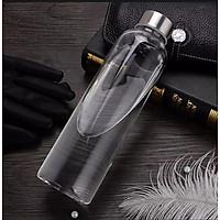 Combo 5 Chai Thủy Tinh đựng nước 500ML - Nắp Thiếc vặn có dây treo (Bình thủy tinh đựng nước, đựng sữa - Chai thủy tinh đựng nước ép)